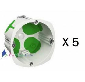 Lot de 5 boitiers simple multifix air profondeur 47mm Schneider IMT35032