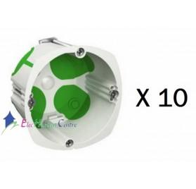 Lot de 10 boitiers simple multifix air profondeur 47mm Schneider IMT35032