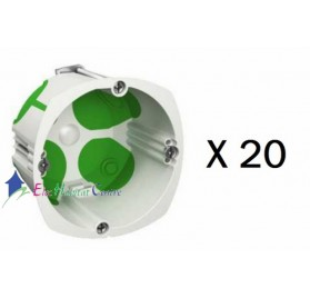 Lot de 20 boitiers simple multifix air profondeur 47mm Schneider IMT35032