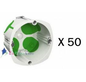 Lot de 50 boitiers simple multifix air profondeur 47mm Schneider IMT35032
