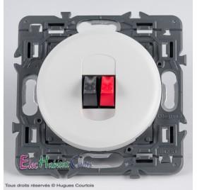 Prise simple haut-parleur Céliane blanc sans plaque 67311+68211+80251