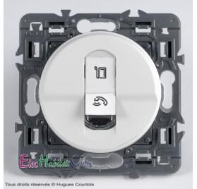 Prise RJ45 catégorie 6 FTP Céliane blanc sans plaque 67345+68251+80251
