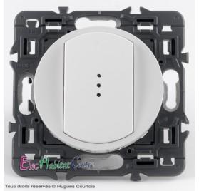 Bouton poussoir 6A lumineux Céliane blanc sans plaque 67031+68003+67686+80251