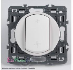 Interrupteur VMC Céliane blanc sans plaque Legrand 67001+68061+80251