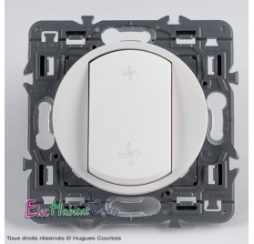 Bouton poussoir VMC Céliane blanc sans plaque Legrand 67031+68061+80251