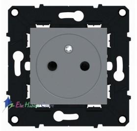 Prise 2P+T 16A affleurante magnésium Arnould 64234