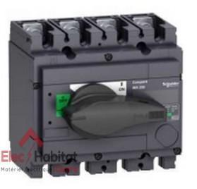 Interrupteur-sectionneur tétrapolaire 4P250A INS250 Schneider 31107