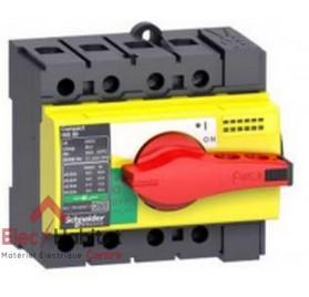 Interrupteur-sectionneur d'arrêt d'urgence tripolaire 3P63A INS63 Schneider 28918