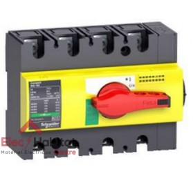Interrupteur-sectionneur d'arrêt d'urgence tétrapolaire 4P160A INS160 Schneider 28929