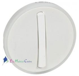Manette à voyant interrupteur, va et vient ou poussoir étroite couronne lumineuse Céliane blanc Legrand 065003