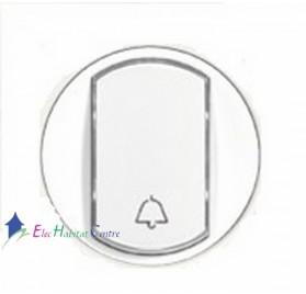Manette interrupteur, va et vient ou poussoir porte-étiquette Céliane blanc Legrand 068014