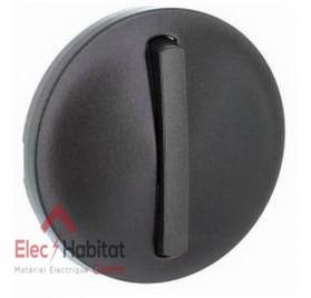 Manette interrupteur, va et vient ou poussoir étroite Céliane graphite Legrand 065201