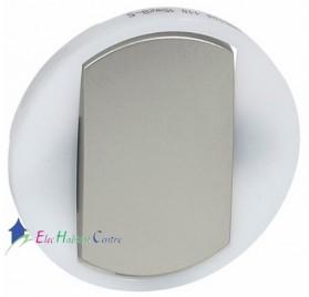 Manette à voyant interrupteur, va et vient ou poussoir couronne lumineuse Céliane titane Legrand 065104