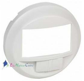 Enjoliveur écodétecteur avec dérogation Céliane blanc Legrand 068026