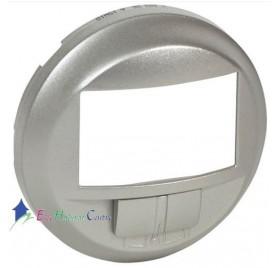 Enjoliveur écodétecteur avec dérogation Céliane titane Legrand 068326