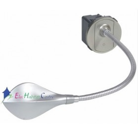 Liseuse à LED livrée avec enjoliveur titane Céliane Legrand 067657