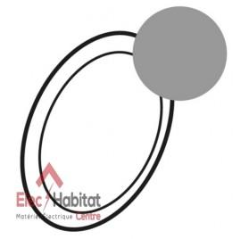 Enjoliveur pour lampe débrochable autonome Céliane titane Legrand 068368