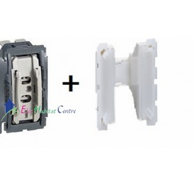Mécanisme interrupteur/va et vient 10A avec couronne lumineuse Céliane Legrand 067001+067670