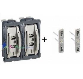 Mécanisme double interrupteur/va et vient lumineux 10A Céliane Legrand 067001x2 + 067686x2