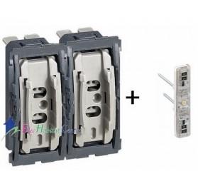 Mécanisme interrupteur/va et vient lumineux 10A + poussoir 6A Céliane Legrand 067001+067686+067031