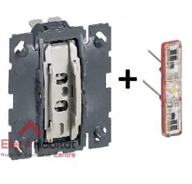 Mécanisme interrupteur/va et vient témoin 10A Céliane Legrand 067001+067688