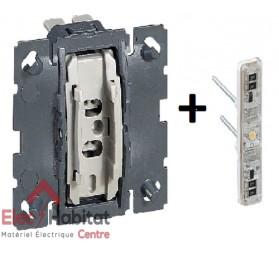 Mécanisme interrupteur/va et vient lumineux 10A Céliane Legrand 067001+067686
