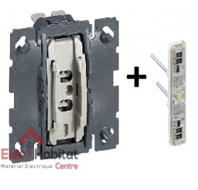 Mécanisme bouton poussoir lumineux 6A Céliane Legrand 067031+067686