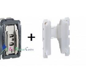 Mécanisme bouton poussoir 6A avec couronne lumineuse Céliane Legrand 067031+067670