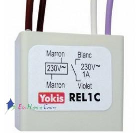 Relais bobine 230V REL1C Yokis 5454081
