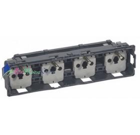 Mécanisme quadruple prise de courant 2P+T 16A précâblée compacte Céliane Legrand 067128