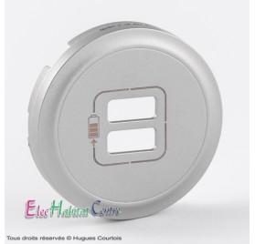 Enjoliveur standard prise chargeur 2 USB 1500mA Céliane titane Legrand 068556