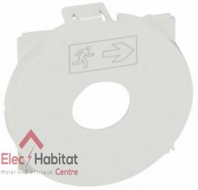 Enjoliveur interrupteur à clé pour BAES Céliane blanc Legrand 068199