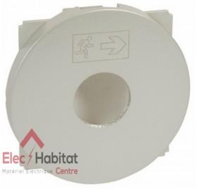 Enjoliveur interrupteur à clé pour BAES Céliane titane Legrand 068499