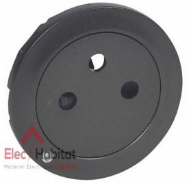 Enjoliveur prise de courant 2P+T à voyant affleurant Céliane graphite Legrand 067915