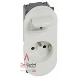 Prise de courant 2P+T 16A à manipulation facile Céliane blanc Legrand 067133