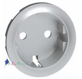 Enjoliveur prise de courant 2P+T standard germanique Céliane titane Legrand 068431