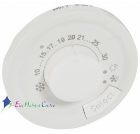 Enjoliveur thermostat d'ambiance Céliane blanc Legrand 068240