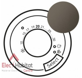 Enjoliveur thermostat d'ambiance fil pilote Céliane 230 V graphite Legrand 067993
