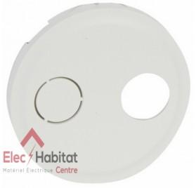 Enjoliveur blanc prise réseau câblé AFORM simple ou double type F Céliane Legrand 068287
