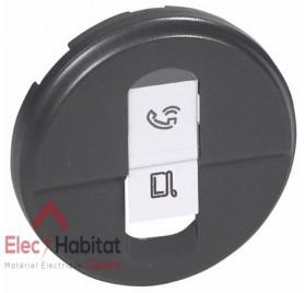 Enjoliveur graphite simple prise RJ45 catégorie 6 Céliane Legrand 067951