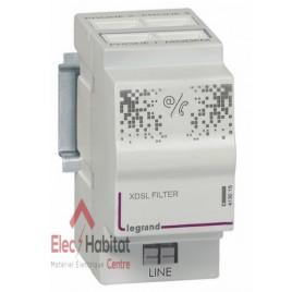 Filtre ADSL/répartiteur téléphonique analogique 3 + 1 sortie, 2 modules Legrand 413015