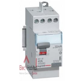 Interrupteur différentiel 2P40A 30mA type AC Vis/Vis Legrand 411611