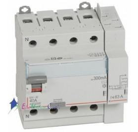 Interrupteur différentiel 4P40A 300mA type AC Vis/Auto Legrand 411654