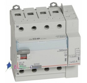 Interrupteur différentiel 4P63A 300mA type AC Vis/Auto Legrand 411655