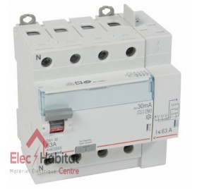 Interrupteur différentiel 4P63A 30mA type HPI Vis/Auto Legrand 411659