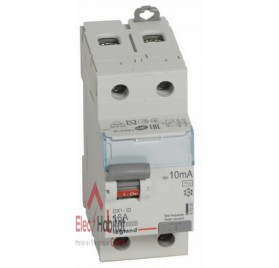 Inter différentiel 2P16A 10mA type AC Vis/Vis Legrand 411500