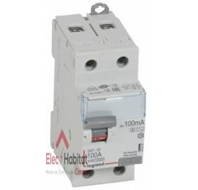 Inter différentiel 2P100A 100mA séléctif type AC Vis/Vis Legrand 411537