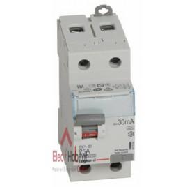 Inter différentiel 2P25A 30mA type A Vis/Vis Legrand 411554