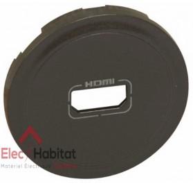 Enjoliveur graphite prise audio/vidéo HDMI 1.3 et 1.4 type A Céliane Legrand 067816
