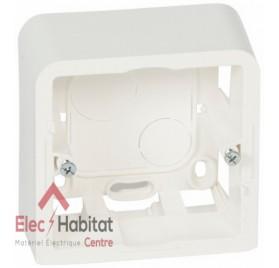 Cadre saillie 1 poste 2 modules profondeur 40mm Mosaic blanc Legrand 080281